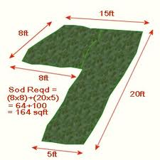 Measure your lawn for sod installation